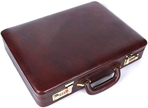 Hammonds Flycatcher Genuine Leather Brown Briefcase with 360 Days Warranty