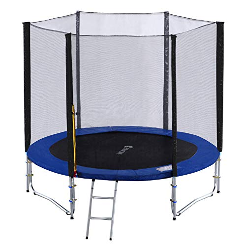 Exacme 8ft Trampoline w/Safety Pad and Enclosure Net All-in-one Combo...