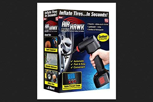 Ontel Air Hawk Pro Automatic Cordless Tire Inflator Portable Air