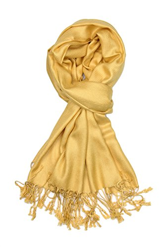 (Achillea Large Soft Silky Pashmina Shawl Wrap Scarf in Solid Colors (Pale)