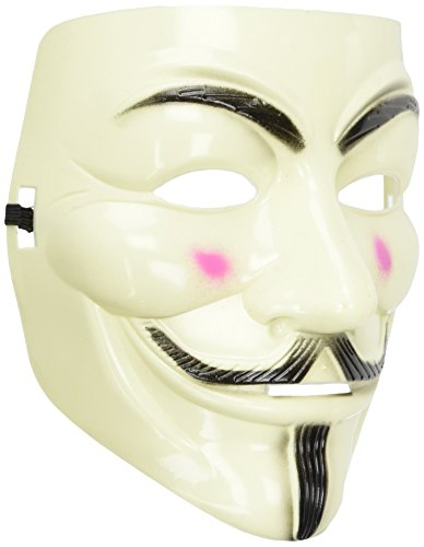 OLIA DESIGN VY V for Vendetta Mask Guy, White -