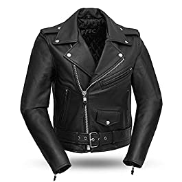 First Manufacturing Black Women's Classic Motorcycle Jacket