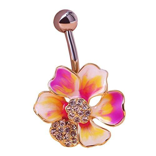 Pixnor Rhinestone Barbell Piercing Jewelry