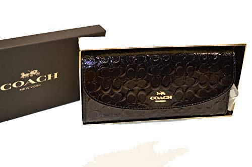 Coach Boxed Slim Signature Leather Wallet Clutch - #F39134