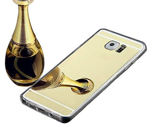 Galaxy Note 5 Case,Inspirationc® Samsung Galaxy Note 5 Luxury Plating Aluminum Bumper Super Slim Mirror Case for Samsung Galaxy Note 5 Aluminum Mirror Case Cover--Gold