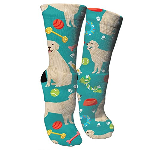 NalizedSocks164 Fun Golden Retrievers Ball Paw Borns Night Compression Socks for Women and Men - Best Medical,for Running, Athletic, Varicose Veins, Travel - Golden Retriever Paws