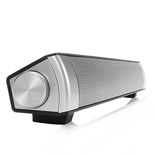 Barra de sonido Altavoz Subwoofer inalámbrico Bluetooth, color negro