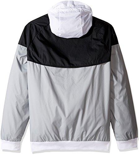 Nike bianco Giacca Uomo Da nero Multicolore grigio Windrunner 7S7qzrZ