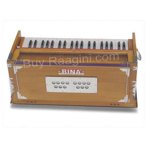 Harmonium, Musical Instrument, BINA No. 9A, In USA, 3 1/2 Octaves, 7 Stops, Standard, Tuned To A440, Natural Color, Coupler, Special Double Reeds, Bag, Book, (PDI-AGE) by Bina (Image #5)