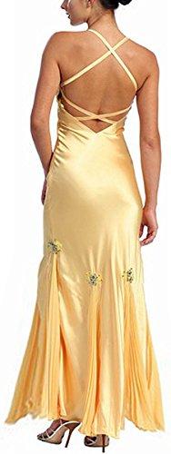 Abendkleid lang Brautkleid Festkleid Charmeuse Ballkleid Kleid elegant Weiß Boho dIIvqwHr