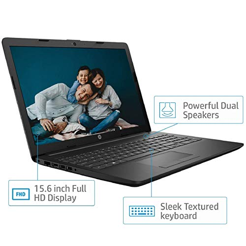 HP 15 8th Gen Intel Core i5 Processor 15.6-inch FHD Laptop (8GB/1TB HDD/Windows 10/MS Office/Jet Black/2.04 kg), 15q-ds1001TU