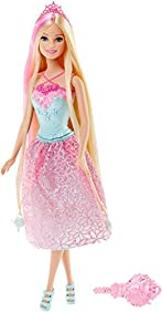 Barbie Endless Hair Kingdom Princess Doll, Pink