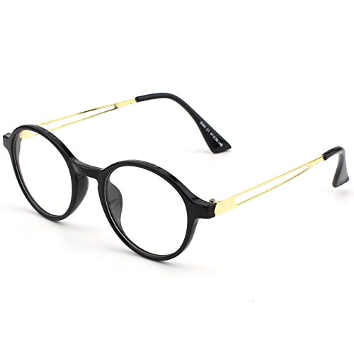 Brillante Negro Retro Claro CN94 Anteojos Lente CGID Hombre Para y Gafas Mujer qwaPFp17