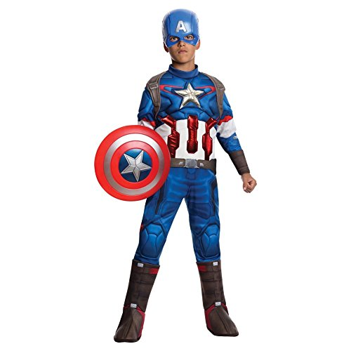 Marvel Captain America Boys Muscle Costume (Large 12-14, 8-10 years)