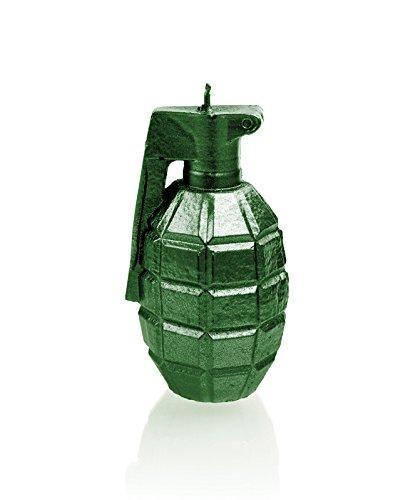 Candellana Candles 5902650677487 Grenade Candellana- Grenade Candle-Green Metallic,Green Metallic by Candellana Candles