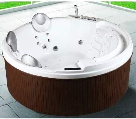 Minipiscina bañera de hidromasaje 200 x 200 x 80 cm bañera de exterior capacidad 3 5 plazas 29 chorros calentador cromoterapia