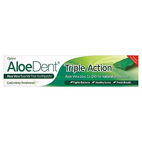 (Optima Aloe Vera Dent Triple Action Toothpaste Tube (100ml) - Pack of 6 )
