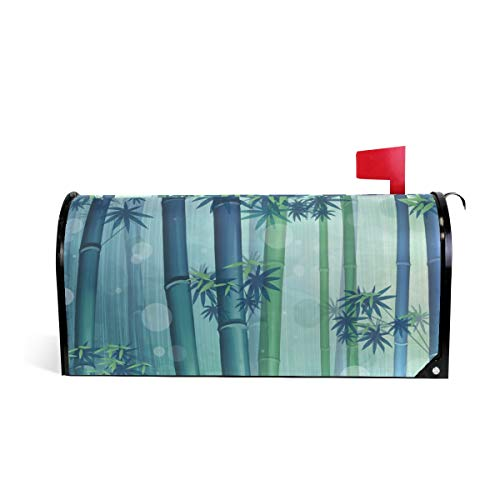 Magnetic Mailbox Cover Bamboo Leaves Mail Wraps Cover Letter Post Box 25.5