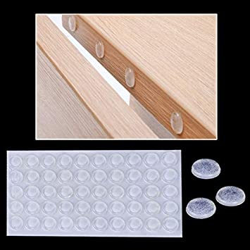 300 Grains 10x2mm Self-Adhesive Silicone Damper pad Accessories Cabinet Door Bumper for Kitchen Cupboard Drawer Stop