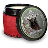 Beard Gains Valhalla Luxury Scented Beard Balm Medium Butter Hold | 100% Organic Viking Beard Conditioner for Men | Style, Shape & Tame Facial Hairs | MADE IN USA (4oz)