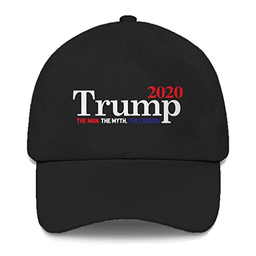 Trump 2020 The Man The Myth The Legend Dad Hat (Black) ()