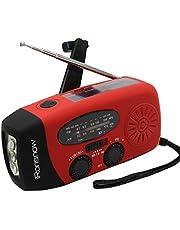 (2018 Version) iRonsnow Solar Emergency NOAA Weather Radio Dynamo Hand Crank Self Powered AM FM WB Radios 3 LED Flashlight 1000mAh Smart Phone Charger Power Bank