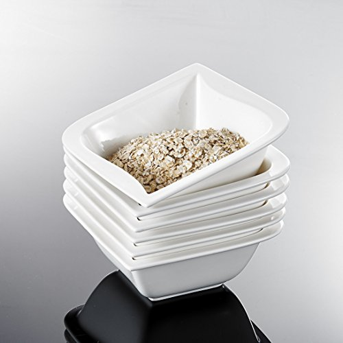 Malacasa, Serie Joesfa, 6 Teiligen Set Porzellan Schüssel Schalen Müslischüssel Reisschüssel Salatschüsseln Dessertschalen Keramik Bowl für 6 Personen
