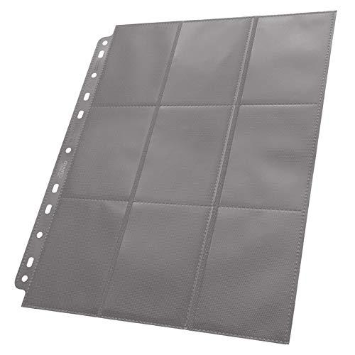 50 Pack Ultimate Guard Grey 18 Pocket Side Loading Pages Card Storage Binder Portfolio Pages