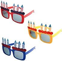BESTOYARD Feliz cumpleaños Vela Gafas de Sol Novedad Gafas ...