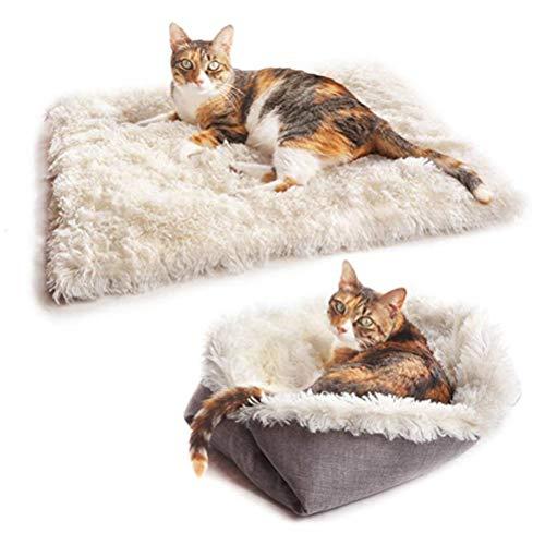 Katzenbett Waschbare Plüsch Weich Runden Winter Katze Schlafen Bett Katzensofa Klein Hund Bett Haustierbett…
