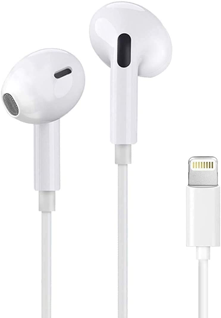 iphone Earbuds with Lightning Connector(Built-in Microphone & Volume Control) In-Ear Stereo Headphones Headset Compatible with iPhone 12/SE/11/X/8 7/8 7 Plus/ipad - All iOS System[Apple MFi Certified]