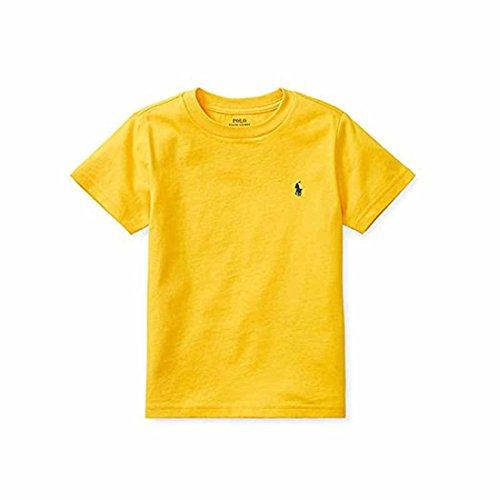 Polo Ralph Lauren Baby Boy's Short Sleeve Crewneck Tee (Mountain Gold, 24 Months)