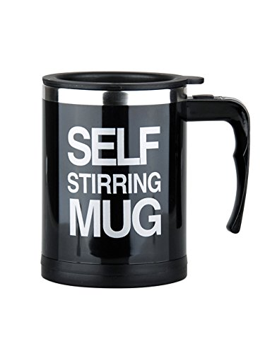 Self Stirring Coffee Mug (Black/Silver) - 3