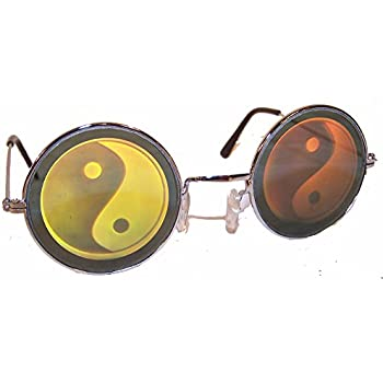 93d78c67b0 1 Pair of Round YIN Yang Hologram Glasses - Taoism 3d Novelty Unisex  Novelty Holographic Sunglasses