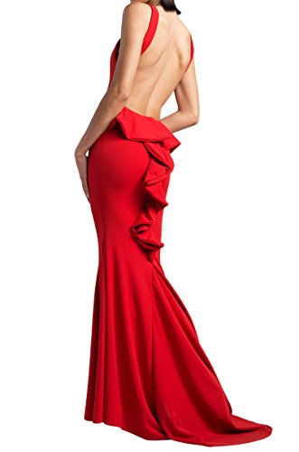 AKIRA Back Marseille Open Red Women's Gown BrBwq70