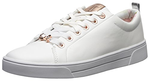 Ted Baker Women's Kellei Sneaker, White, 7.5 B(M) US (Leather Ted Sneakers)