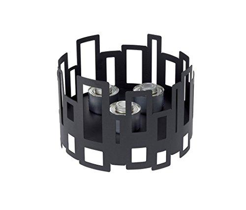 Rosseto SM111 Round Steel Buffet Warmer, 10-Inch, Black Matte
