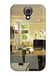 YfTeIGC7281YSxEW Case Cover, Fashionable Galaxy S4 Case - Breakfast Room With Floor-to-ceiling Glass-front Cabinets