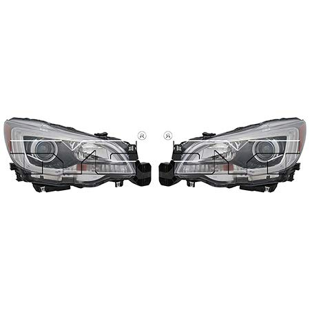 (CarLights360: Fits 2015 2016 2017 Subaru Outback Headlight Assembly Driver and Passenger Side CAPA Certified w/Bulbs Halogen Type - Replaces SU2502149 SU2503149 (2.5i Limited ; 2.5i Premium ; 3.6R Lim)