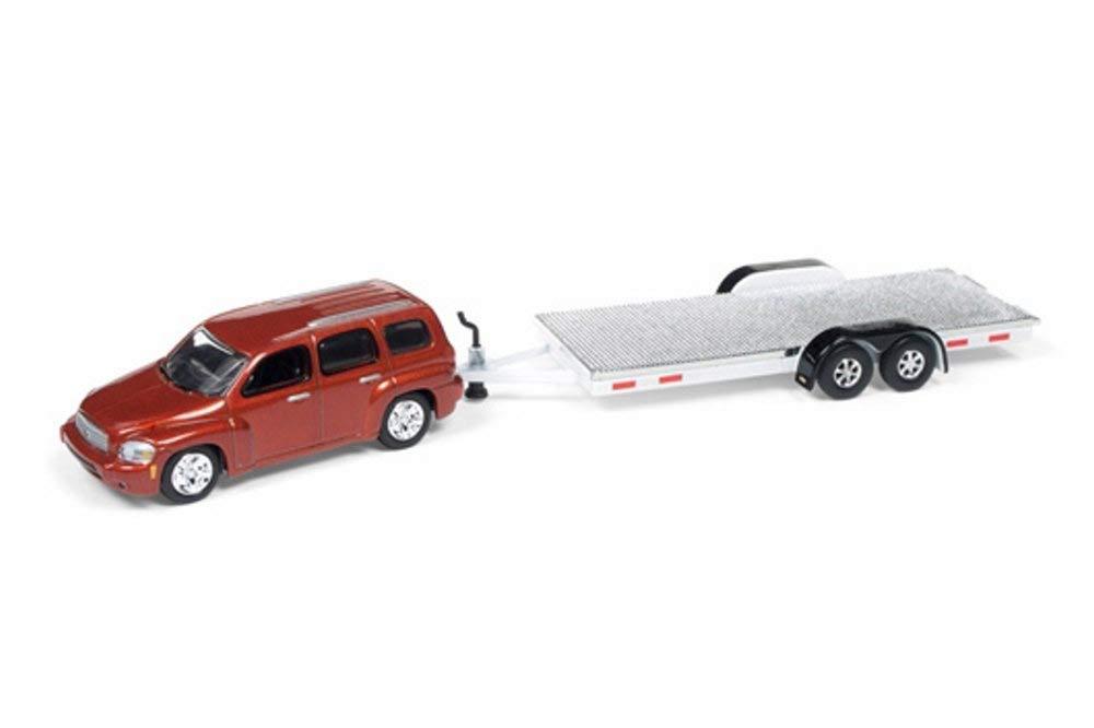 Johnny Lightning 2006 Chevy Hhr With Open Car Trailer Orange