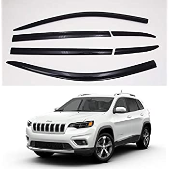 Fit for Jeep Cherokee 2014-2019 Window Visor Rain Guard Set Durable Trim Shield