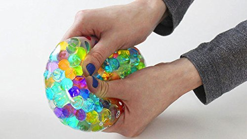 Make Stress Ball with 3,600 Amazing Squisheez (TM ) water beads (Mix) Mix Bouncy Balls