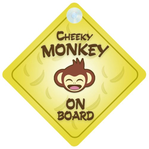 Cheeky Monkey On Board Car Sign New Baby / Child Gift /