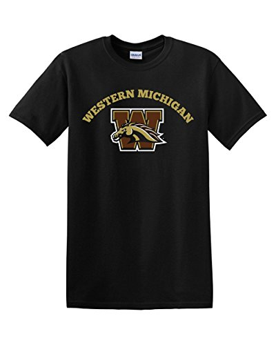 Western Michigan University - CreateMyTee Western Michigan University Adult T-Shirt (Large) Black