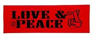 Trigun Anime Geek Bumper Sticker: Love & Peace