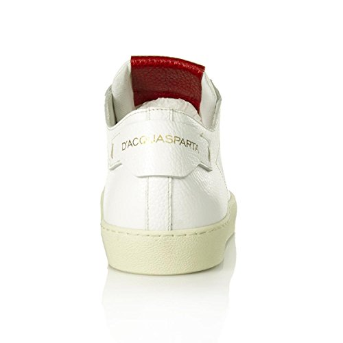 DAcquasparta Sneaker in Pelle Duccio u250abr Alce bainco/Rosso Nr.42