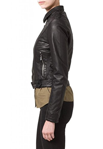 Mujer Negro Chaqueta Para Junction Leather w6q1xt1