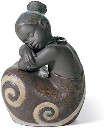 LLADR African Girl Figurine. Porcelain Girl Figure.