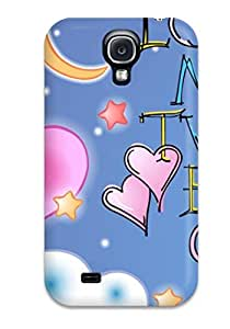Dixie Delling Meier's Shop New Style Durable Defender Case For Galaxy S4 Tpu Cover(love Make Two Hearts One Lovely Text Quote) 3843770K68399343