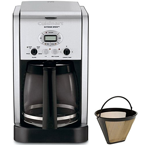 al 12-Cup Programmable Coffeemaker - Factory Refurbished (DCC-2650FR) with Gold Tone Filter (12 Cup Programmable Gold Filter)